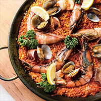 【Specially made seafood paella rice dish